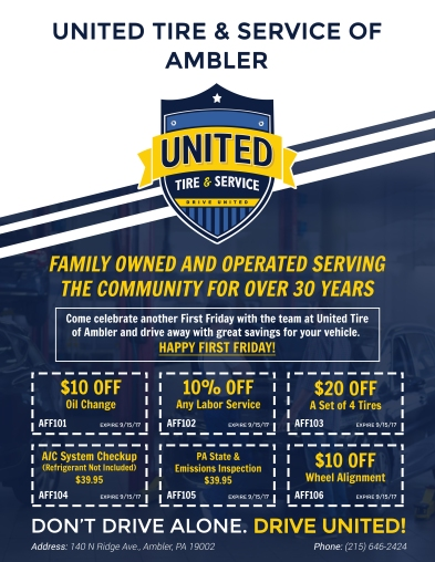 First Friday Flyer United Tires (Ambler) (1)